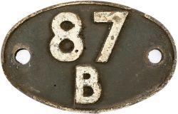 Shedplate 87B Port Talbot Duffryn Yard 1950-1964, Margam 1964 - 1973. Lightly cleaned original