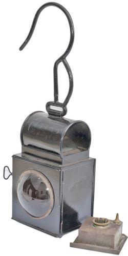 Great Eastern Railway double bullseye splitting lamp stamped WIMBLINGTON No1. Complete with original