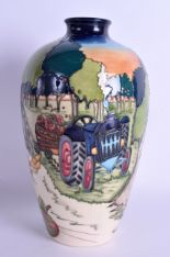 Lot 36 - A MOORCROFT 'FOWLERS ORCHARD' VASE designed by Kerry Goodwin. No 106 of 150. 23.5 cm high.