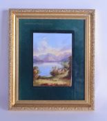 Lot 164 - Mid 19th c. English porcelain plaque, probably Davenport painted with a titled scene of '