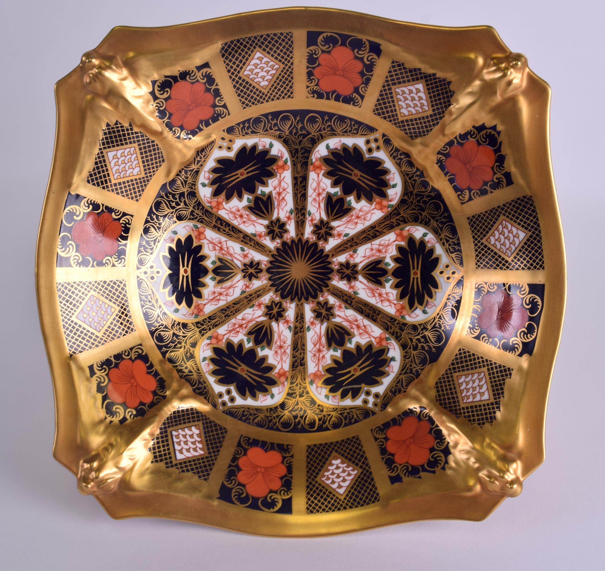 Lot 66 - A LARGE ROYAL CROWN DERBY IMARI PEDESTAL TAZZA pattern 1128. 24 cm x 14 cm.
