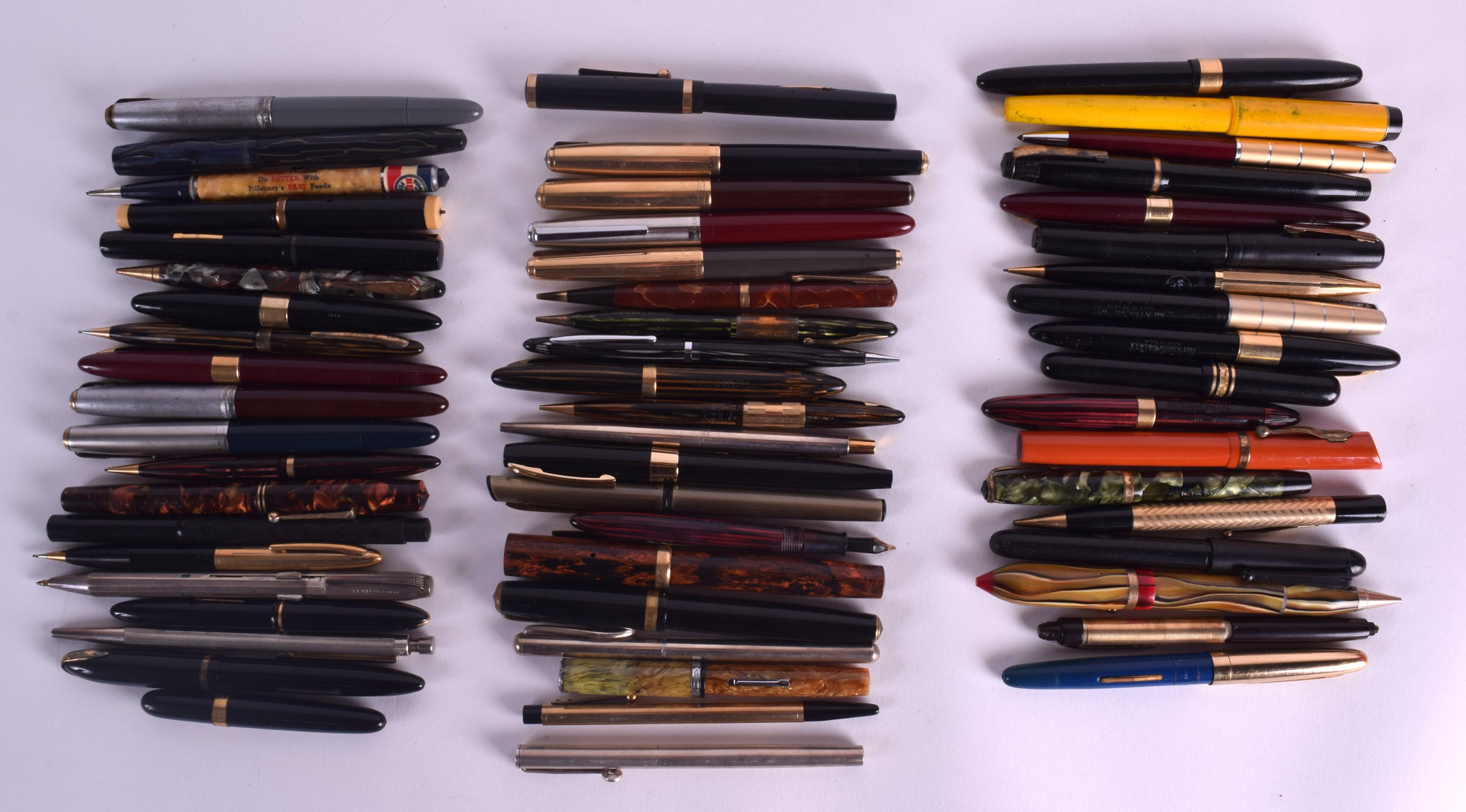 Lot 870 - A COLLECTION OF VARIOUS PENS including Bloomingdales, Clip cap ideal, Sheaffer, Majestic etc, ten