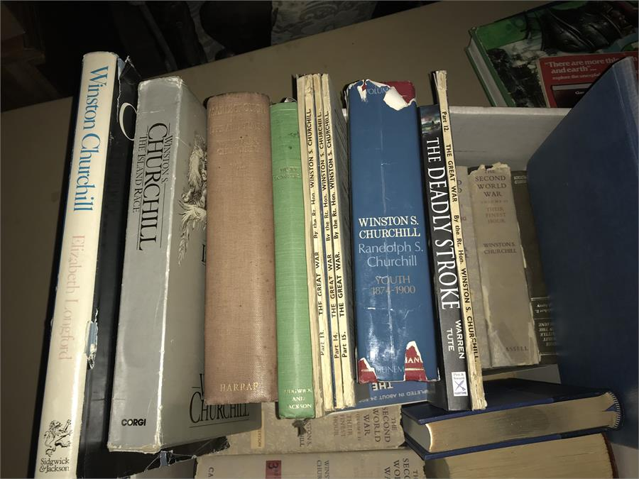 Lot 50 - Boxed Lot of Churchill Related Books