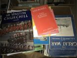 Lot 52 - Box Lot of Various Churchill Related Magazines/Books
