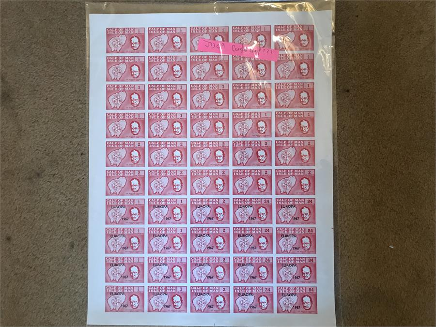 Lot 92 - Sheet of Calf of Man - Churchill