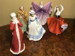 Lot 100 - Five Royal Doulton Figurines