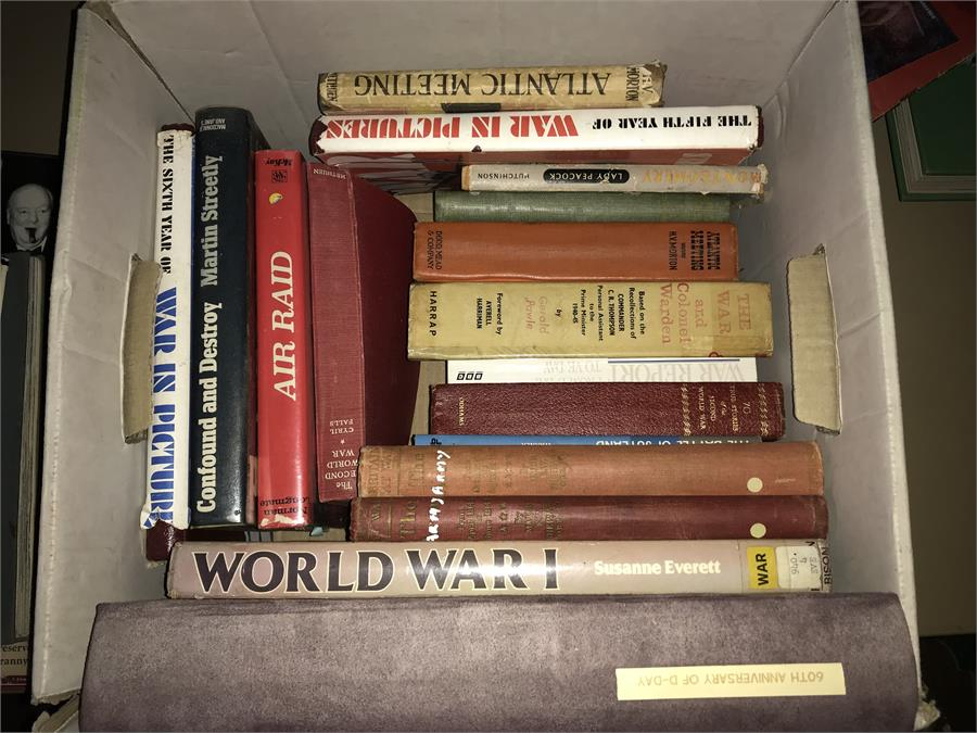 Lot 49 - Boxed Lot of War History Books