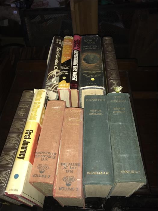 Lot 54 - 11 x Churchill & Other War Books