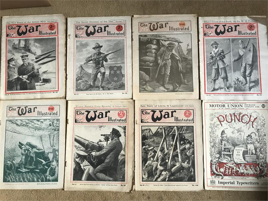Lot 34 - A collection of Vintage 'The War Illustrated' Magazines.