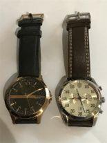 Lot 58 - A Ferrari 0830174 D 50 Watch and an Armani Exchange watch.