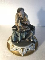 Lot 8 - A capodimonte figure of a philatelist stamped Tyche 'Tosca'