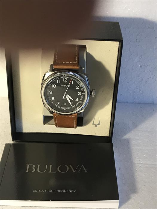Lot 53 - A Bulova watch in excellent condition with original box and manual.