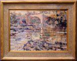 """Lot 9 - ARTHUR K. MADERSON, """"JESS'S BRIDGE"""", oil on board"""