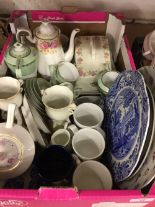 Lot 12 - 20th cent. Ceramics: Spode Italian sandwich plate, art deco style tea set, cheese dish, and other