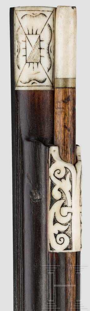 Lot 55 - Ein Paar leicht verbeinte Radschlossbüchsen, Johann Panat, datiert 1651 Jeweils achtfach gezogener