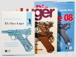 """Lot 13 - Drei Bücher Luger: 1 x J. Walter, 2 x J. Görtz 1 x J. Walter """"Luger"""" von 1982, über 310 reich"""