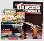 """Lot 16 - Zwei Bücher Luger: M. Malherbe + John Walter 1 x M. Malherbe """"La Saga du Luger"""" von 1992, über 175"""