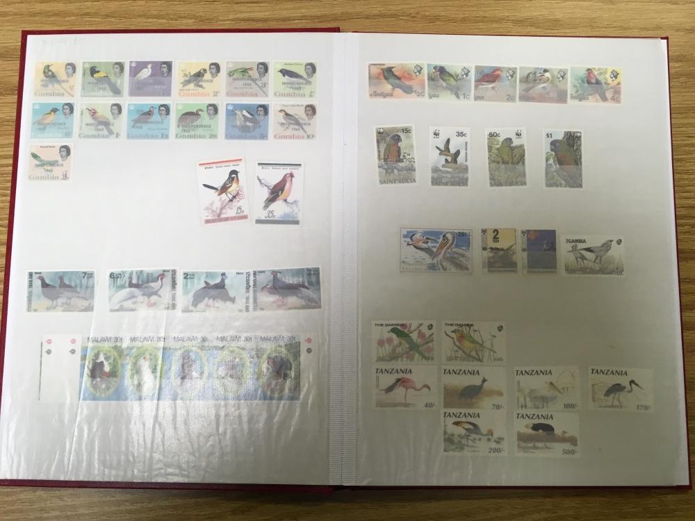 Lot 43 - THREE STOCKBOOKS OF MAINLY BIRD THEMATIC