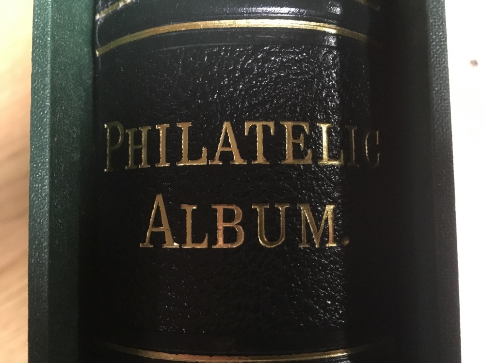 Lot 96 - SG PHILATELIC ALBUM WITH SLIPCASE AND AP