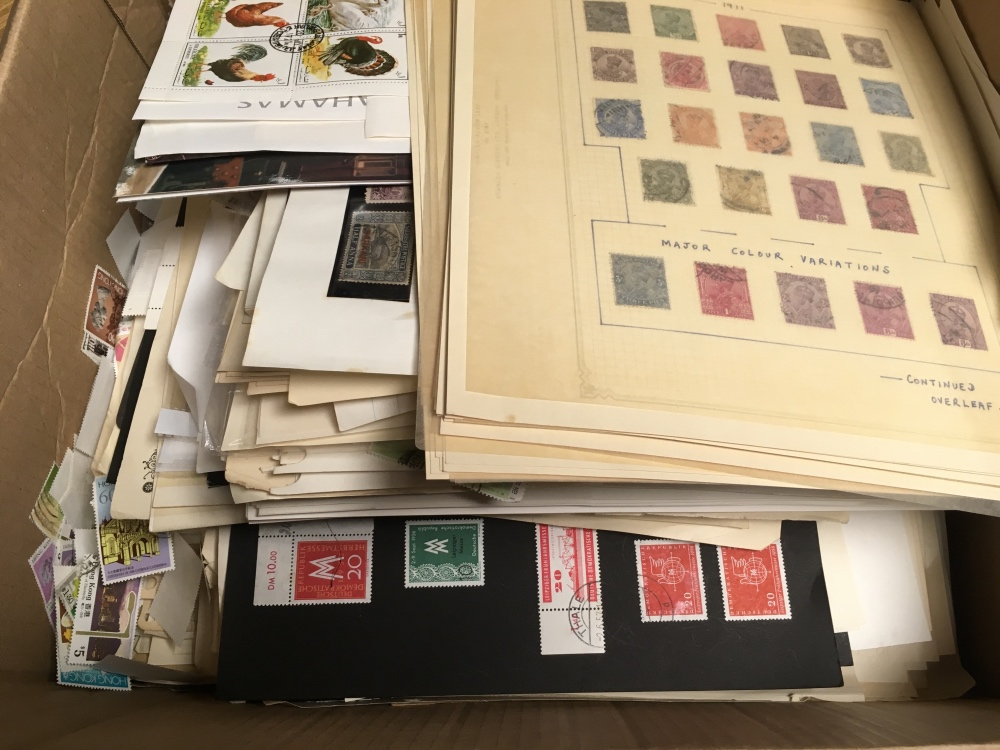 Lot 15 - BOX OF FOREIGN ON LEAVES FROM VARIOUS CO