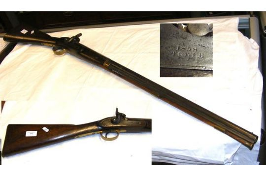 Antique Rifle Having 1858 Mark To The Side Lock Condition
