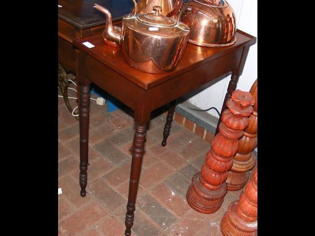 Lot 28 - Small mahogany side table