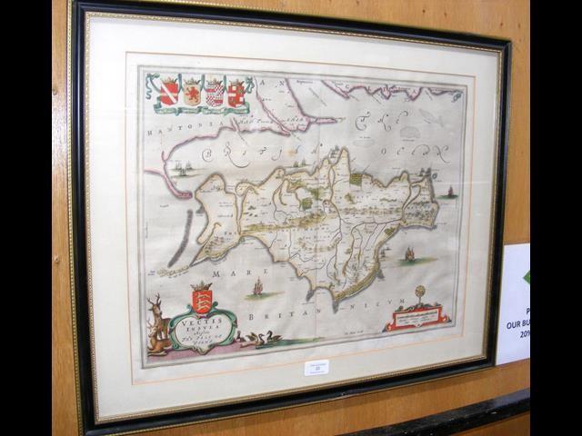 Lot 20 - JOHANNES BLAEU - antique hand coloured map of the I