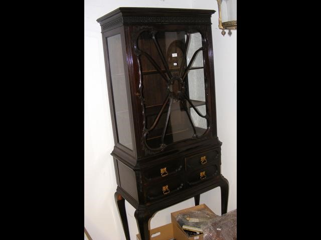 Lot 35 - A Chippendale style display cabinet on stand