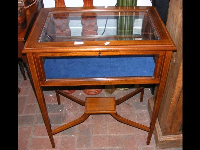 Lot 26 - Collector's cabinet on square tapering supports