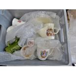 A Box of Mixed China Ware-which includes some vintage 'Royal' Items.