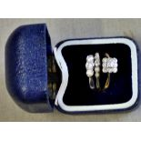 Gold Rings (3) 9ct Gold and Diamond Rings. No hallmarks