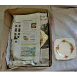 Plates (4) and serving plate (4) Vintage Alfred Meakin, England, in good condition
