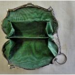 Ladies Silver Purse, lovely condition engraved 'L.R.', Hallmarked Chester 1919.
