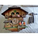 """Cuckoo Clock - made in Germany - approx 12"""" high - in working order."""