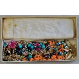 A box of Costume Jewellery, some good bits, broches etc.
