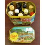 Vintage Butlins Holiday Camp Tin - with bottles of old food colouring