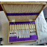 Fish Set-in original box of knives and forks, there was other cutlery inside, missing, but the