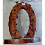 """Large Wooden wine rack in excellent condition - approx 21"""" high"""