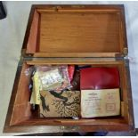 """Vintage Mahogany box approx 13"""" x 8"""" no key but beautiful inlay work for decoration"""