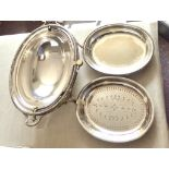 Serving Dish - Large Silver Plated ornate serving dish with cover, by Windsor Bishop of Norwich,