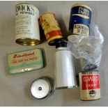 Assortment of Tins and other baking powders- all original tins- good lot
