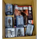 Dr Who -(6) Figures + Magazines - Models-Special Weapons Dalek ABJ3227-Sensorite ADP96450-The