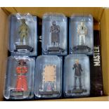Dr Who - (6) Figures + Magazines - Lady Cassandra ACO6364-The Third Doctor ACQ1280-Cyberman (Tenth