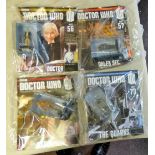 Dr Who - (4) Magazines unopened with figures-The reign of terror-The Time of the Doctor-Evolution of