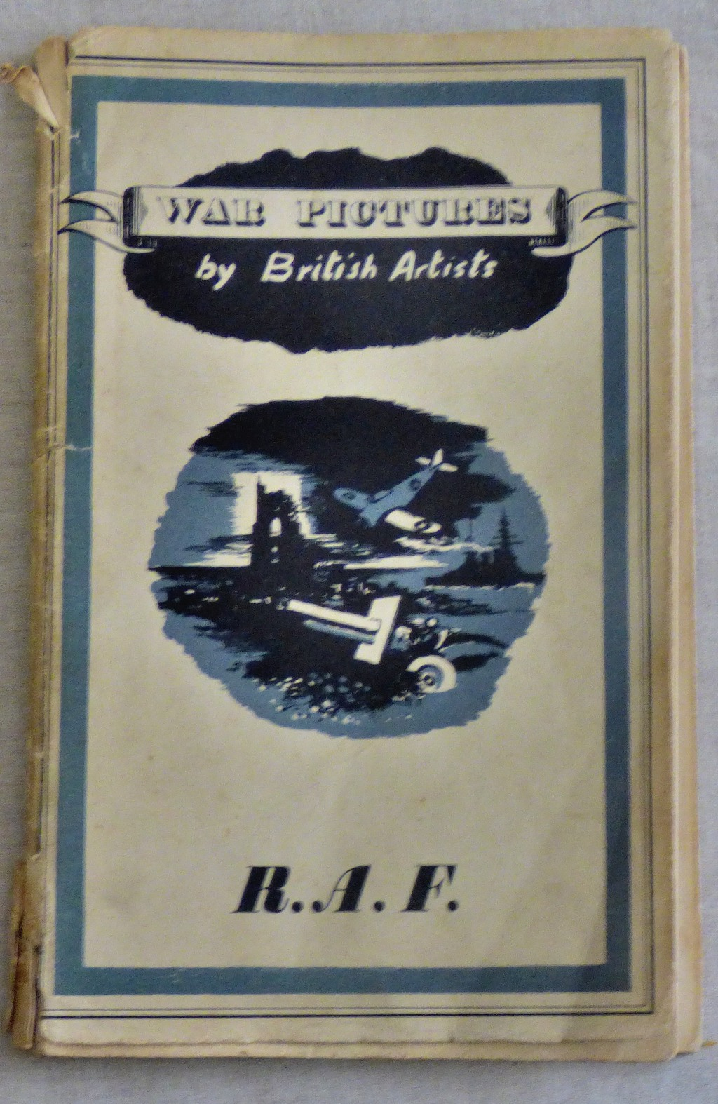 Lot 53 - Booklet - War Pictures by British Artists R.A.F presented to B.A.Harding. Good condition