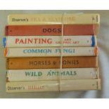Observer Books: Sea & Seashore, Dogs, Painting, Common Fungi, Horses & Ponies, Wild Animals and