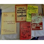 A selection of local guides (The Chalfont Country and The Thames Valley, The South Downs Way and