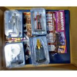 Dr Who - (4) Figures + Sticker Album and stickers-Models Cyber Controller JL149-Rassilon AAG0984-