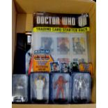 Dr Who - (4) Figures + Sticker Album and stickers - Davros HT766-Cyberman ANN2944-Heavenly Host