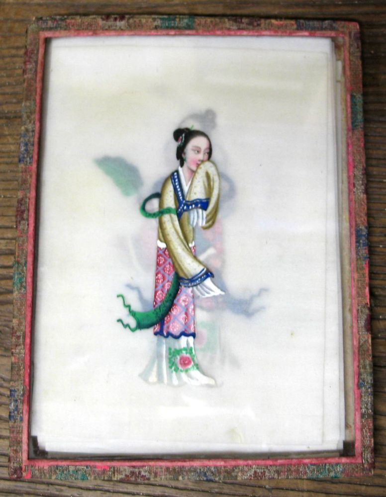 Lot 43 - CHINA / CANTON export paintings: set of 12 pith-paper paintings of Chinese people or types, each